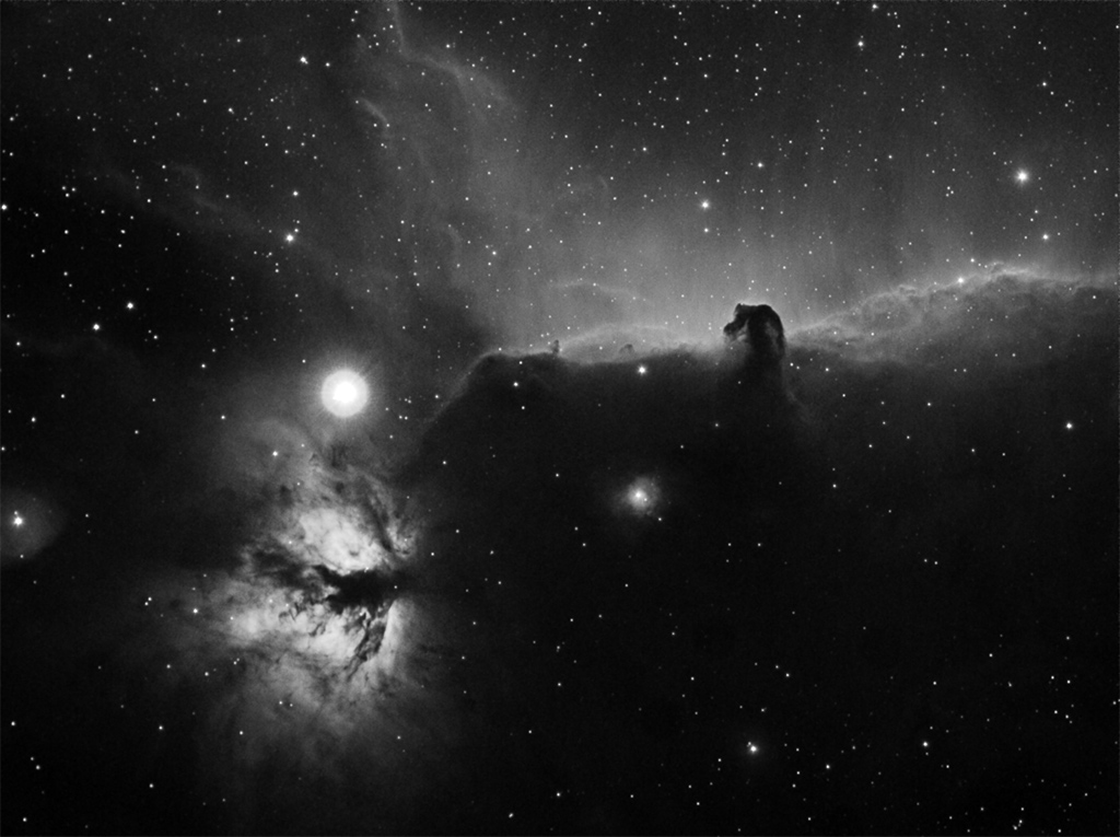 horse head nebula wallpaper. below horsehead nebula at